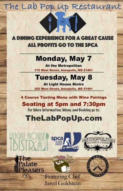 Lab Pop Up Restaurant – May 7/8