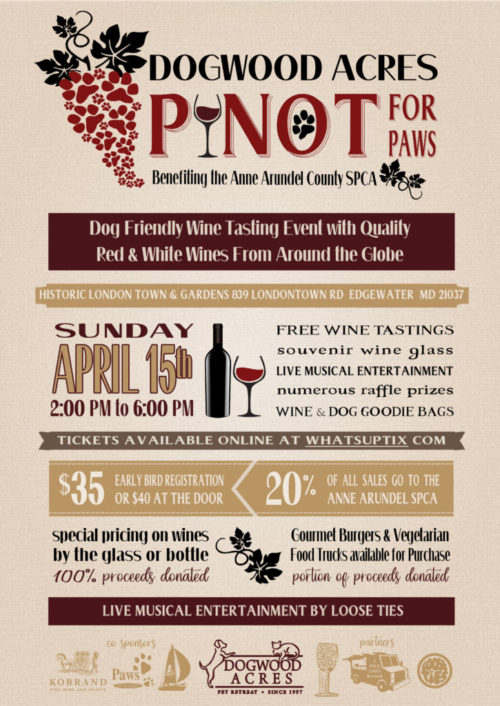 Pinot for Paws – April 15