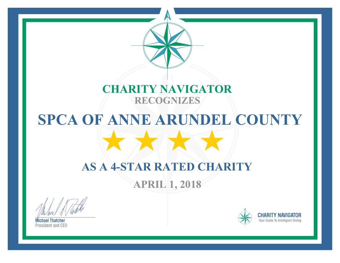SPCA Rated 4 Stars