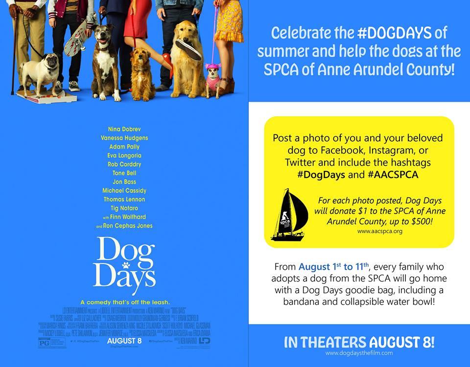#DogDays with SPCA – Aug 1-11