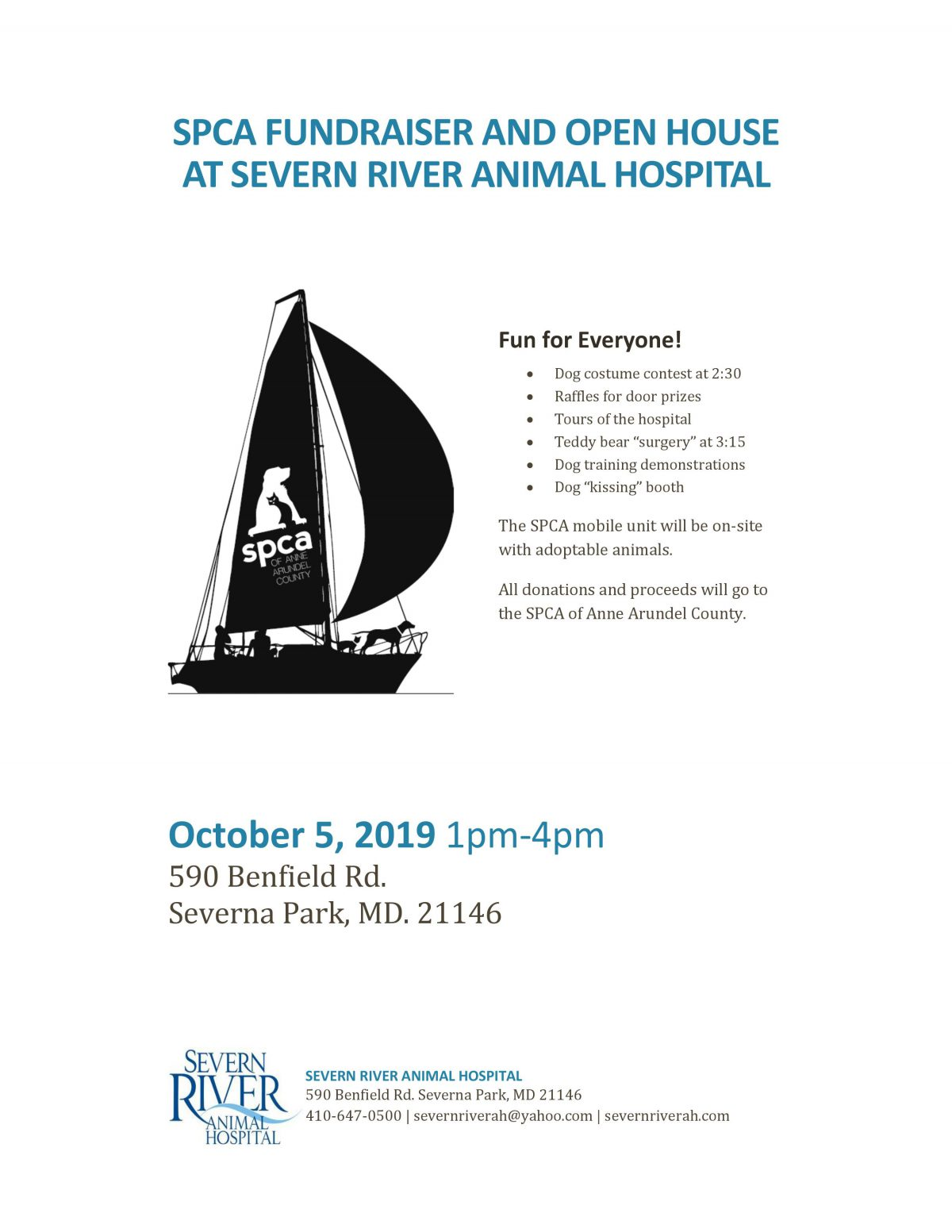 Severn River Open House- 10/5 – SPCA of Anne Arundel County