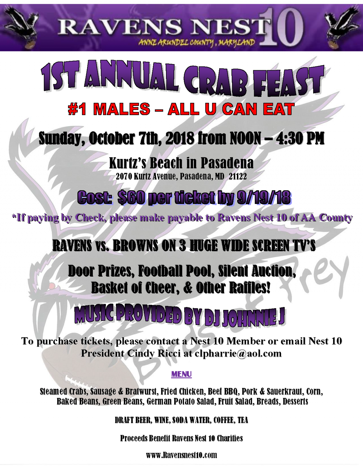 Get Crab Feast Tickets by 9/19