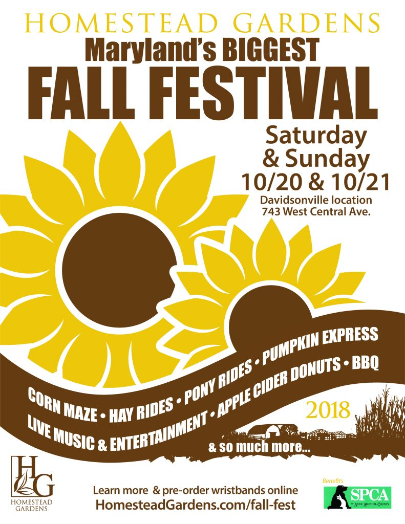 Spca of anne arundel county for Homestead gardens fall festival