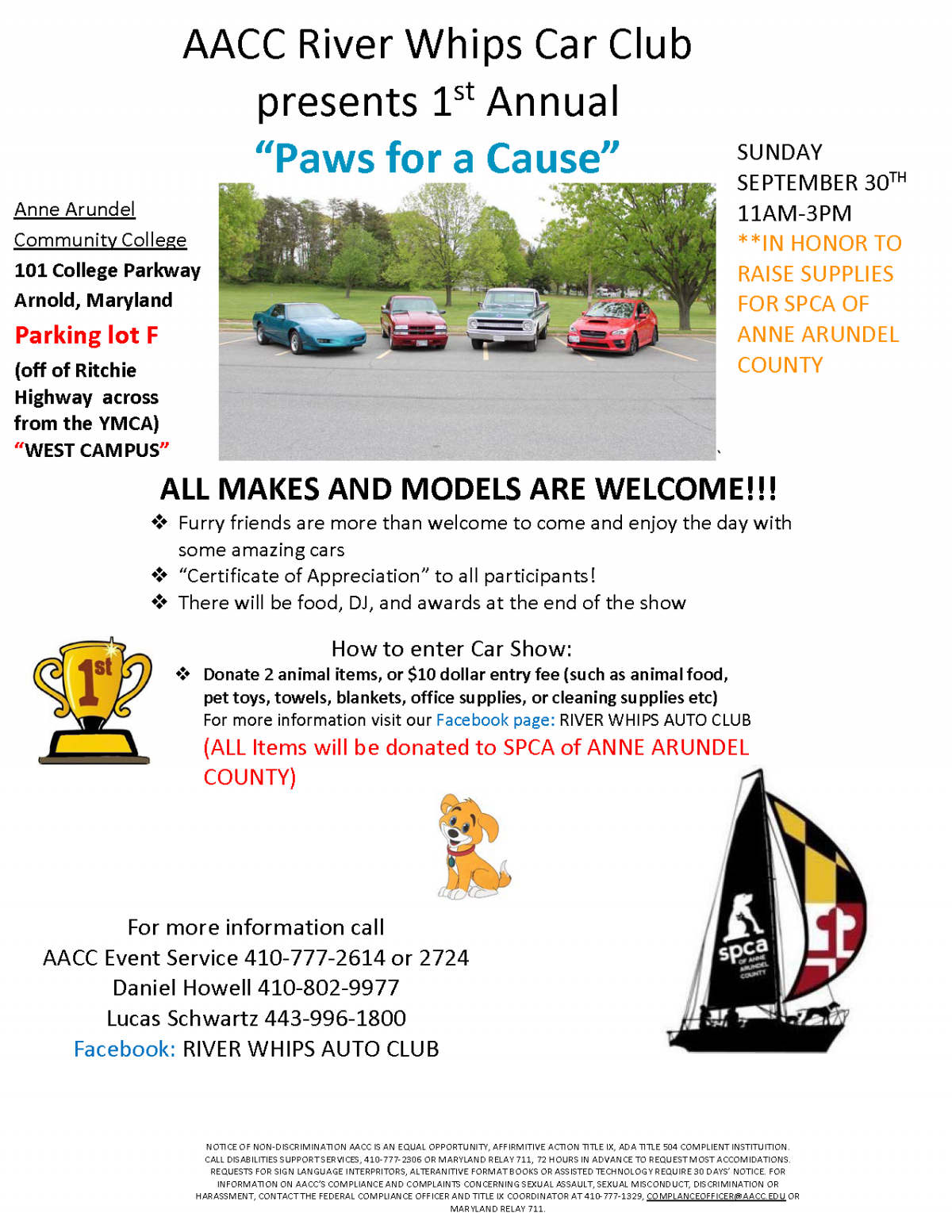 Paws for a Cause – 9/30