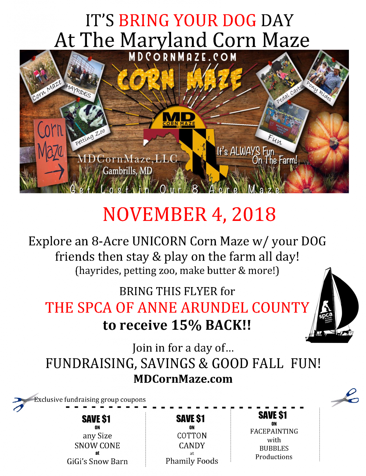 Dog Day @ MD Corn Maze – 11/4