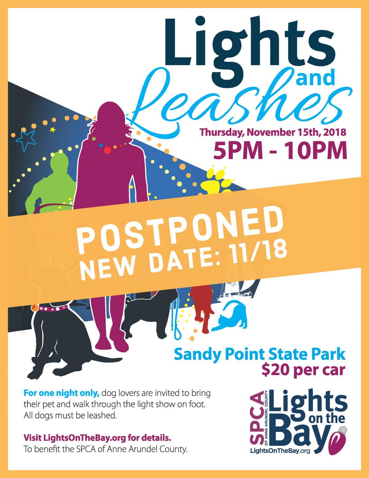 Lights & Leashes Postponed 11/18