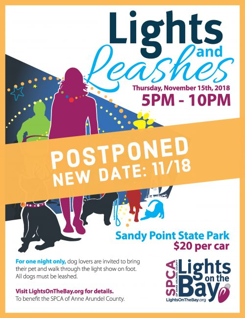 Lights & Leashes Postponed 11/18