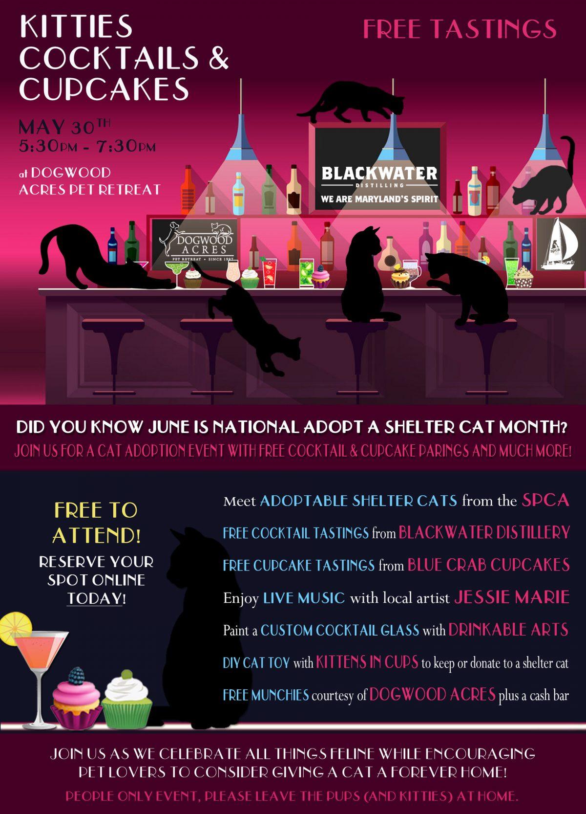 Kitties Cocktails Cupcakes -5/30
