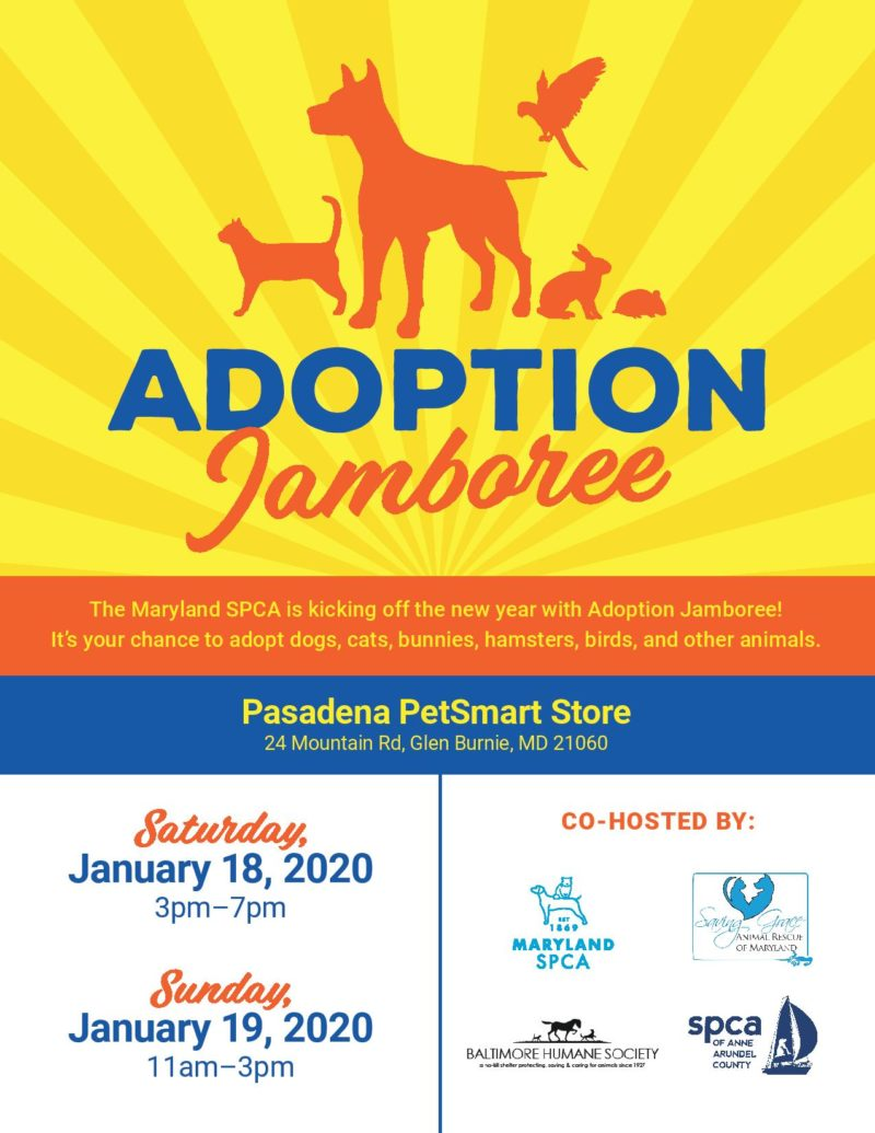 Adoption Jamboree – 1/18 & 1/19