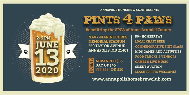 Pints For Paws – 6/13