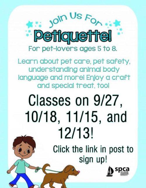 Petiquette Class is back!