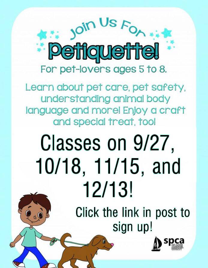 Petiquette Class is back!