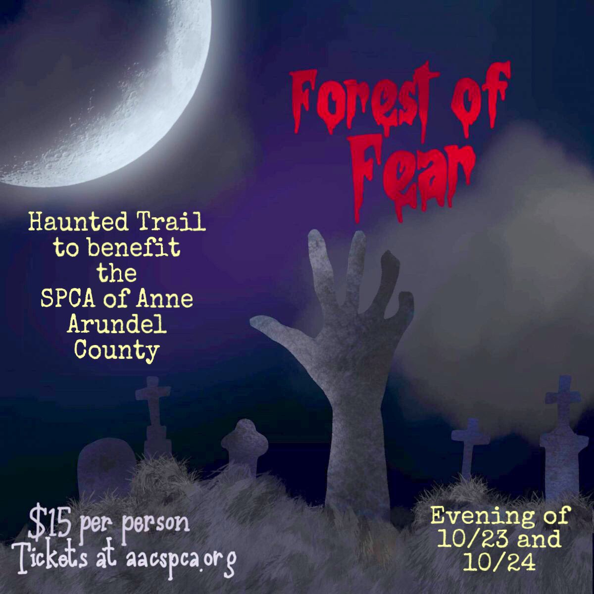 Forest of Fear Haunted Trail – 10/23 & 10/24